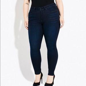 Lane Bryant High Rise Skinny Tighter Tummy Jeans